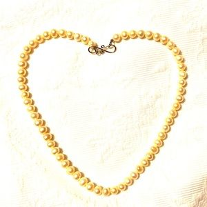 Jewelry - real pearls necklace 18k gold infinity clasp